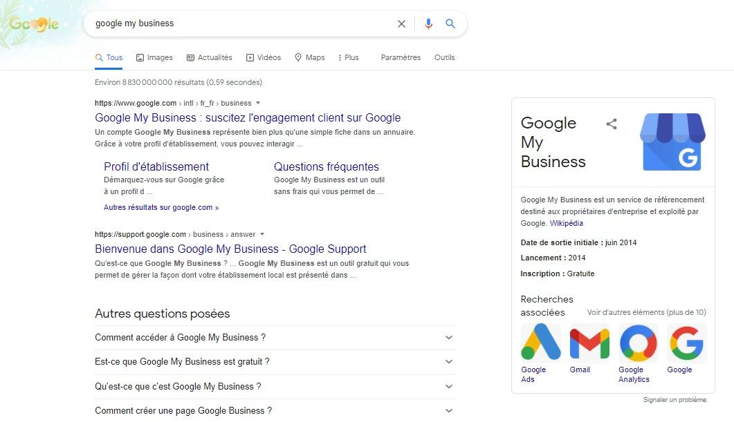 google my bsuiness